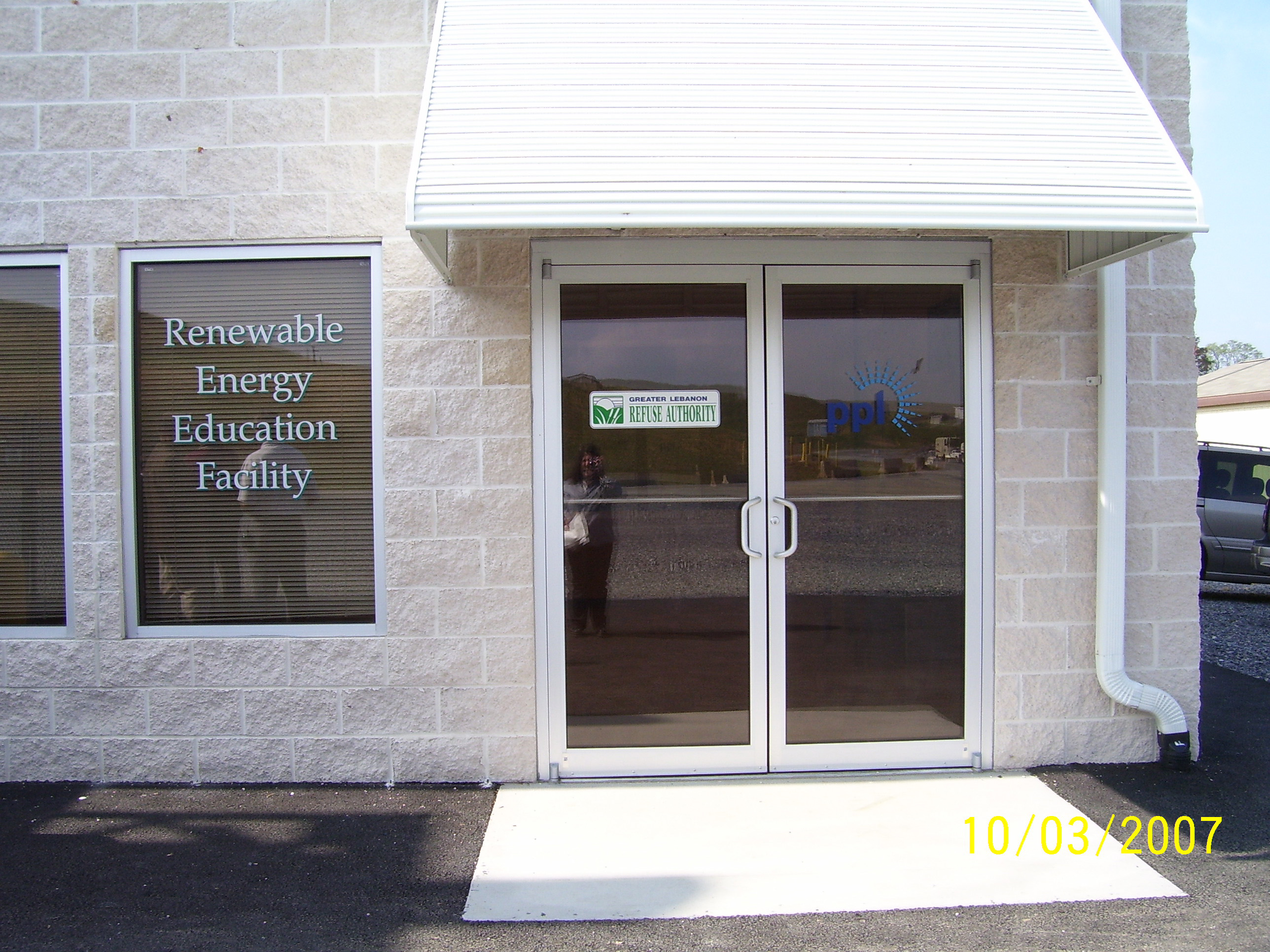 The Renewable Energy Education Facility entrance
