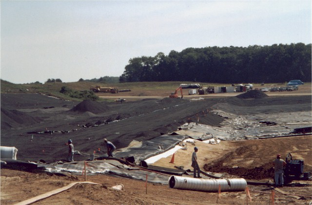 Construction of liner pad 4